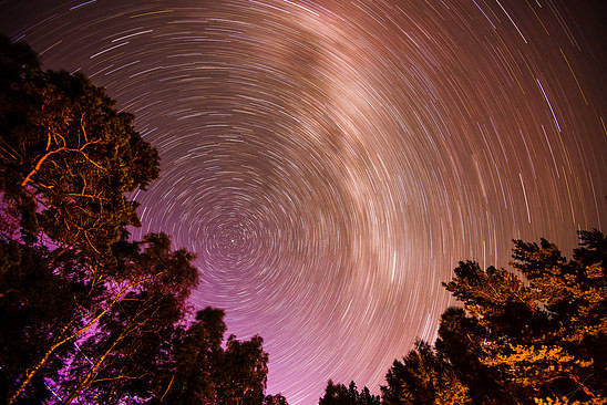 Star trails above Brommö